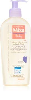 MIXA Atopiance óleo de limpeza suave para cabelo e peles atópicas
