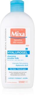 MIXA Hyalurogel čistilni losjon za obraz za suho do zelo suho kožo