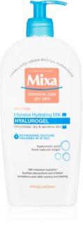 MIXA Hyalurogel intenzivní hydratační tělové mléko pro suchou a citlivou pokožku