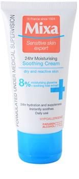 MIXA 24 HR Moisturising vlažilna in pomirjujoča krema za občutljivo in netolerantno kožo