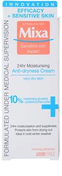 MIXA 24 HR Moisturising hydratačný a vyživujúci krém pre veľmi suchú pleť