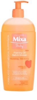 MIXA Baby schaumiges Öl für Dusche und Bad