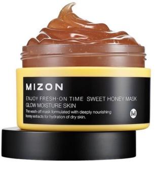Mizon Enjoy Fresh-On Time bőrélénkítő és hidratáló maszk mézzel száraz bőrre