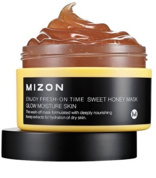 Mizon Enjoy Fresh-On Time máscara iluminadora e hidratante com mel para pele seca
