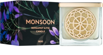Monsoon Bergamot & Fig bougie parfumée 180 g