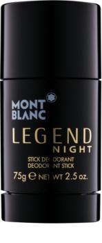 Montblanc Legend Night dédorant stick pour homme 75 g