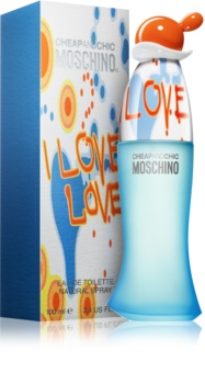 Moschino I Love Love Eau de Toilette Damen 100 ml