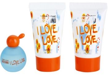 Moschino I Love Love zestaw upominkowy tester dla kobiet 4 szt.