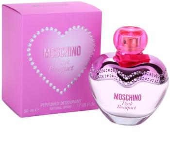 Moschino Pink Bouquet deodorant s rozprašovačem pro ženy 50 ml