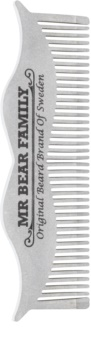 Mr Bear Family Grooming Tools Moustache Steel Comb