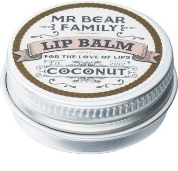 Mr Bear Family Coconut bálsamo labial para hombre