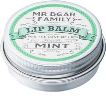 Mr Bear Family Mint bálsamo de lábios para homens