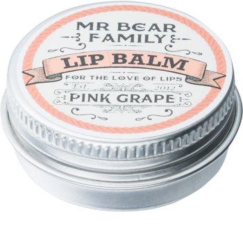 Mr Bear Family Pink Grape balzam na pery pre mužov