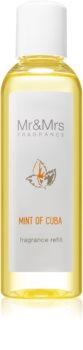 Mr & Mrs Fragrance Blanc Mint of Cuba recarga para difusor de aromas 200 ml