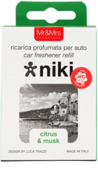 Mr & Mrs Fragrance Niki Citrus & Musk odświeżacz do samochodu   napełnienie