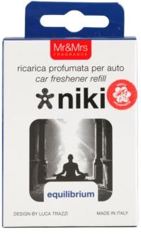 Mr & Mrs Fragrance Niki Equilibrium ambientador de coche para ventilación   recarga de recambio (Equilibrium)