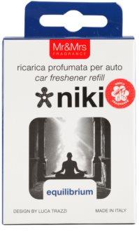 Mr & Mrs Fragrance Niki Equilibrium odświeżacz do samochodu   napełnienie (Equilibrium)