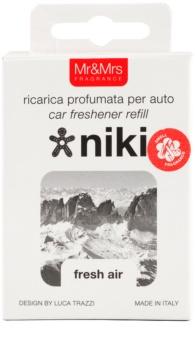 Mr & Mrs Fragrance Niki Fresh Air vôňa do auta   náhradná náplň