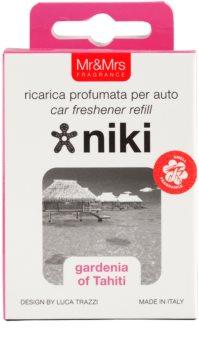 Mr & Mrs Fragrance Niki Gardenia of Tahiti Auto luchtverfrisser    Vervangende Vulling