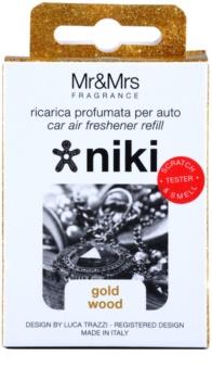 Mr & Mrs Fragrance Niki Gold Wood Auto luchtverfrisser    Vervangende Vulling