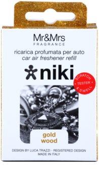 Mr & Mrs Fragrance Niki Gold Wood vôňa do auta   náhradná náplň