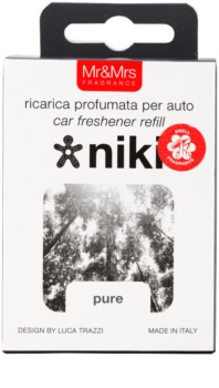 Mr & Mrs Fragrance Niki Pure Auto luchtverfrisser    Vervangende Vulling