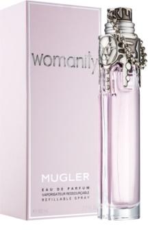 Mugler Womanity Eau de Parfum für Damen 80 ml Nachfüllbar