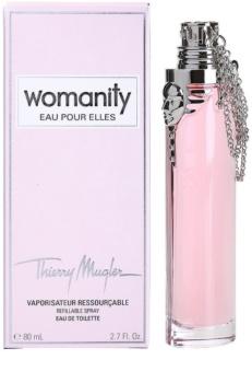 Mugler Womanity Eau pour Elles Eau de Toilette Damen 80 ml Nachfüllbar