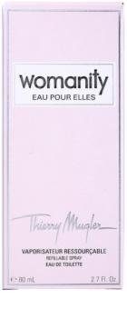 Mugler Womanity Eau pour Elles eau de toilette nőknek 80 ml utántölthető