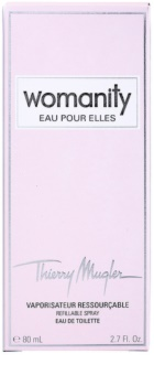 Mugler Womanity Eau pour Elles Eau de Toillete για γυναίκες 80 μλ επαναπληρώσιμο