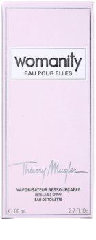 Mugler Womanity Eau pour Elles toaletní voda pro ženy 80 ml plnitelná