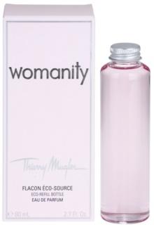 Mugler Womanity Eau de Parfum para mulheres 80 ml recarga