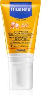 Mustela Solaires schützende Gesichtscreme SPF 50+