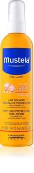 Mustela Solaires schützende Hautmilch für Kinder SPF 50+