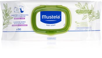 Mustela Bébé vlhčené čistiace obrúsky pre deti s olivovým olejom