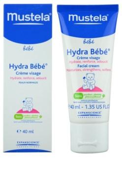 Mustela Bébé Hydra Bébé зволожуючий крем для шкіри обличчя для дітей від народження