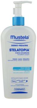 Mustela Dermo-Pédiatrie Stelatopia зволожуючий крем для дуже сухої та чутливої, атопічної шкіри
