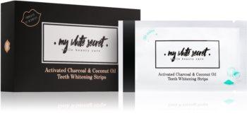 My White Secret Charcoal and Coconut Oil benzi pentru ablirea dintilor pentru dinti