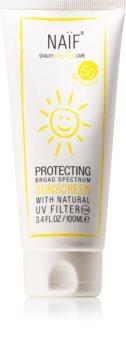 Naif Baby & Kids crema protettiva abbronzante SPF 50