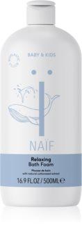 Naif Baby & Kids schiuma rilassante per il bagno