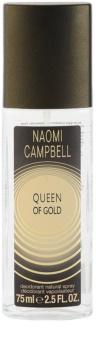 Naomi Campbell Queen of Gold Deo mit Zerstäuber für Damen 75 ml