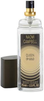 Naomi Campbell Queen of Gold deodorant s rozprašovačem pro ženy 75 ml