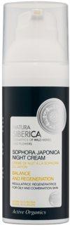 Natura Siberica Sophora Japonica regeneracijska nočna krema za mastno in mešano kožo