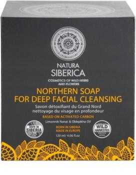 Natura Siberica Wild Herbs and Flowers αποτοξινωτικό σαπούνι προσώπου για βαθύ καθαρισμό