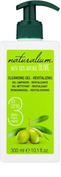 Naturalium Olive gel limpiador revitalizante  para rostro y cuerpo