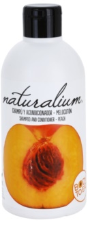 Naturalium Fruit Pleasure Peach szampon i odżywka