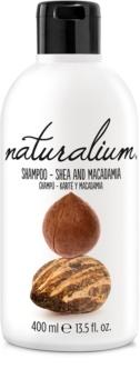 Naturalium Nuts Shea and Macadamia regeneráló sampon száraz és sérült hajra