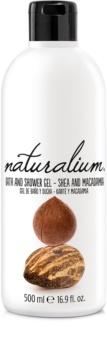 Naturalium Nuts Shea and Macadamia gel de banho regenerador