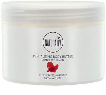 Naturativ Body Care Revitalising masło do ciała o dzłałaniu nawilżającym