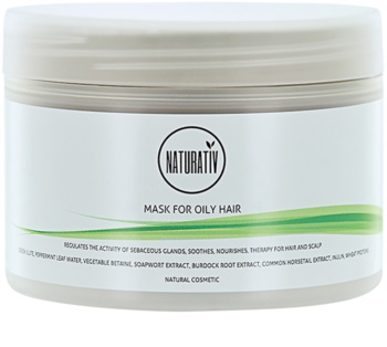 Naturativ Hair Care Getleness,Shine&Strength masca cu namol pentru par gras